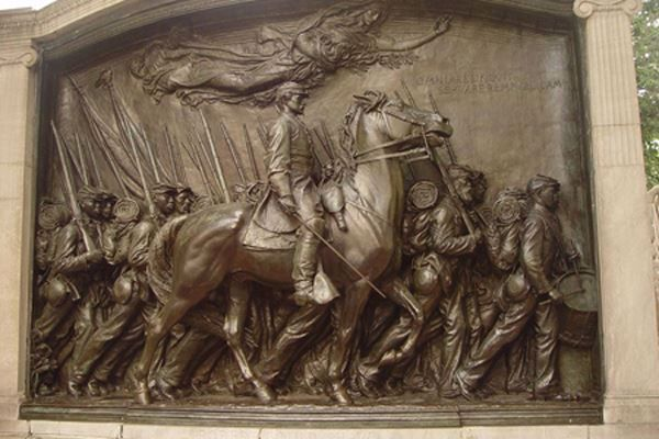 Memorial to Robert Gould Shaw