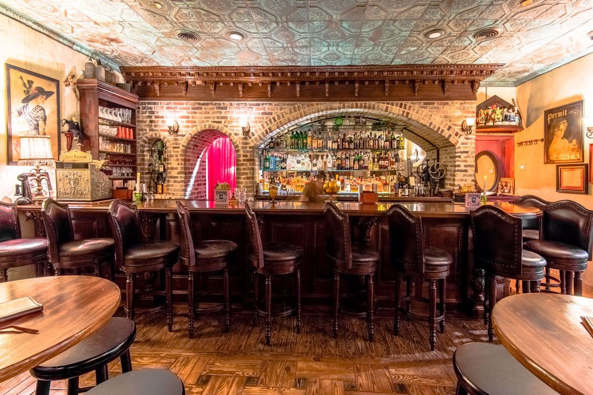 Experience an authentic speakeasy atmosphere