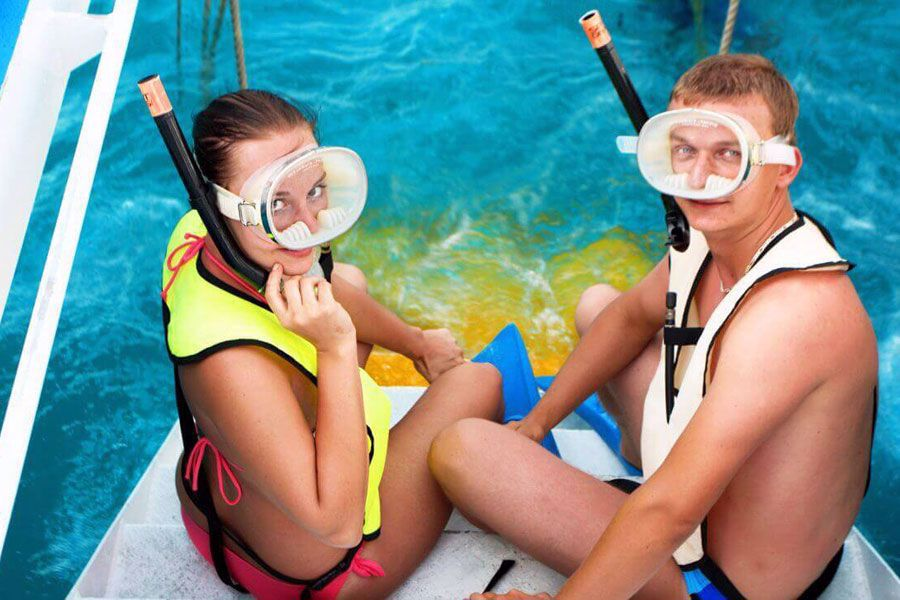 Snorkel the only live coral reef in the US