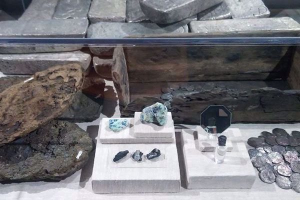 Historical artifacts and treasure