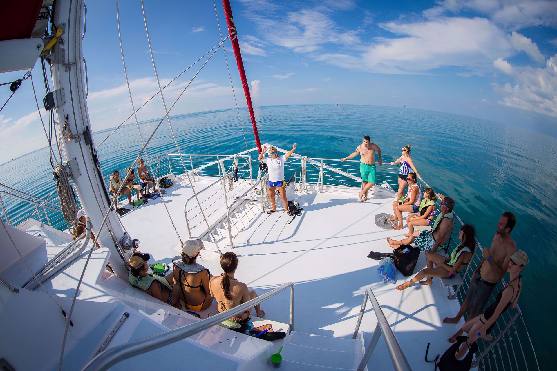 An afternoon sail that takes you to the reef