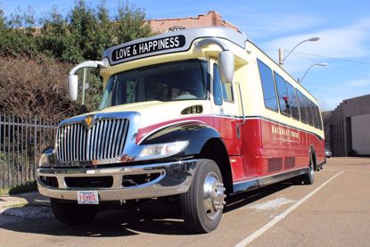The popular retro-style music bus