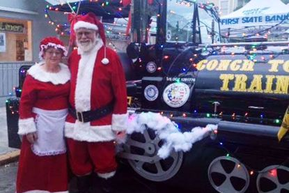 Conch Tour Train Holiday Lights